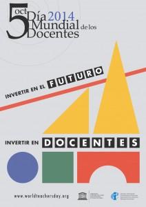 5 Octubre Día Mundial de los Docentes_2014_Poster_Spanish rec