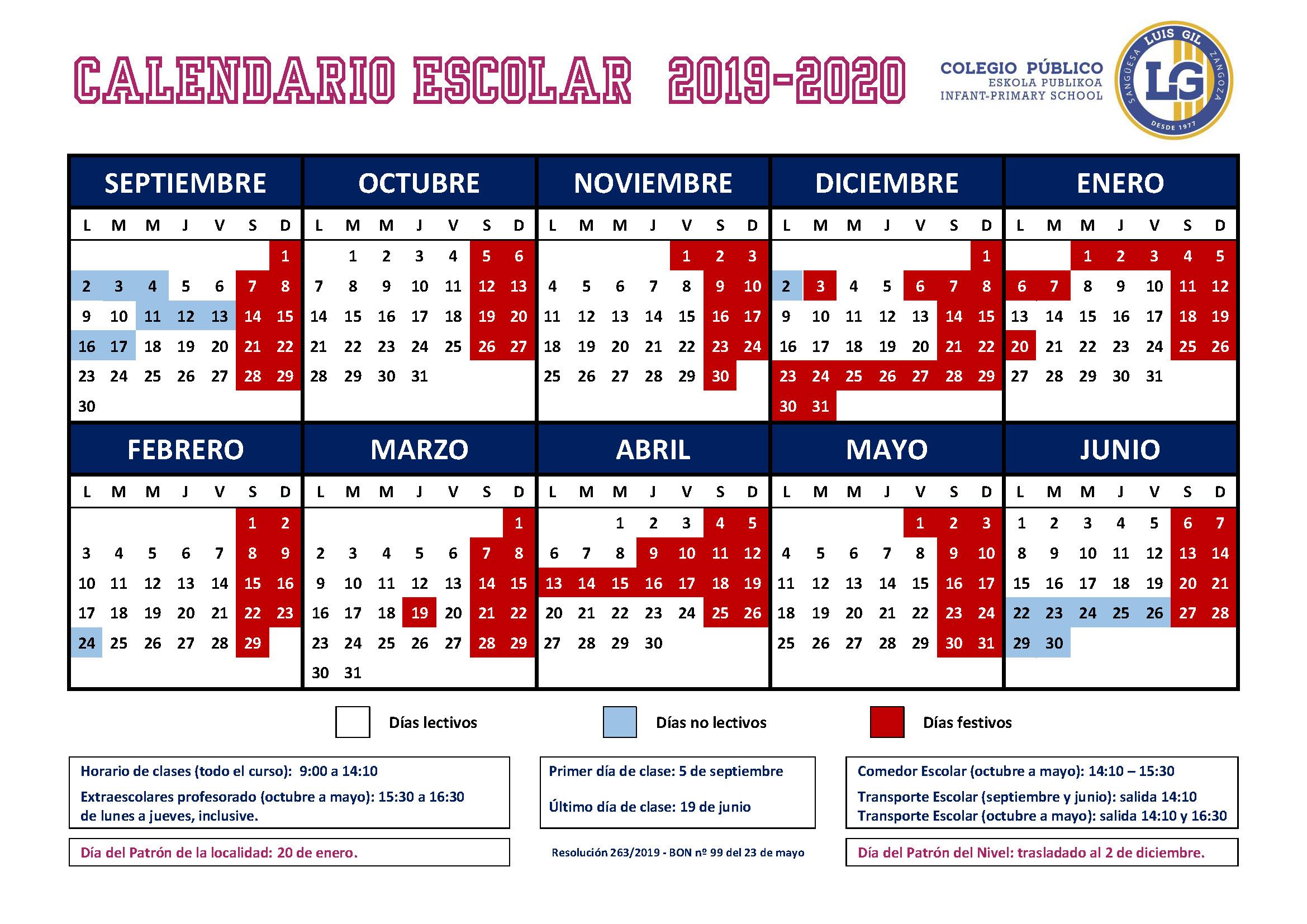 Calendario Escolar Cantabria 2020.Calendario Escolar Cantabria 2020 17